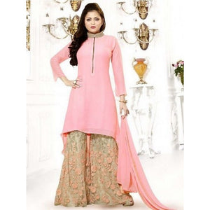 Fancy Festival Wear Peach Color Sharara Suit