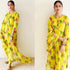 Stylish Party Wear Yellow Color Plazzo Suit For Girls