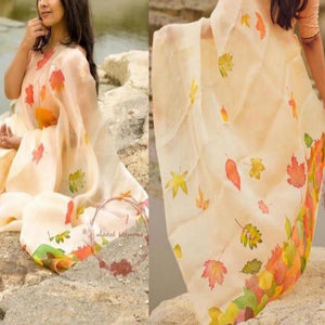 Latest Multi Color Print Designer Saree