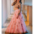 Stylish Pink Net With Printed Heavy Work Lehenga Choli And Dupata For Girls