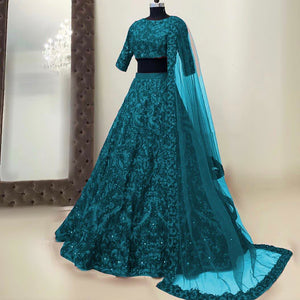 Designer Embroidery Work Party Wear Lehenga Choli