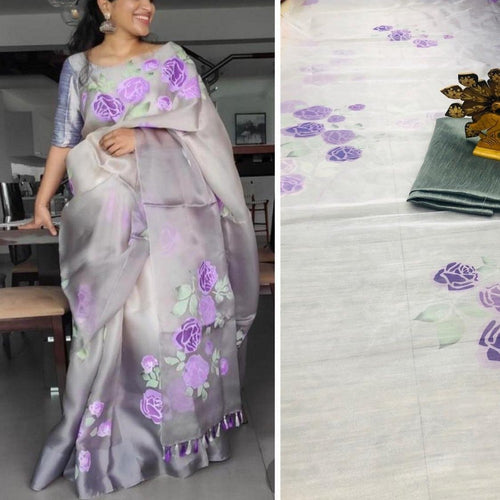 Digital Print Saree With Blouse
