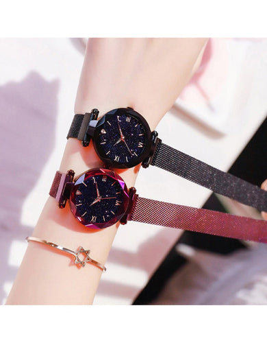 Black Magnetic Starry Sky Watch