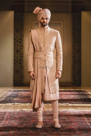 How do Indian Grooms style themselves on the wedding day?