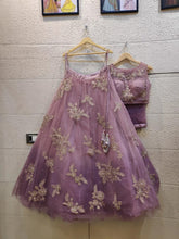 Load image into Gallery viewer, Lavender Pink Net Lehenga Set