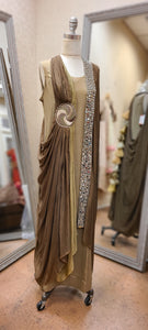 Mirror Jacket Georgette gown