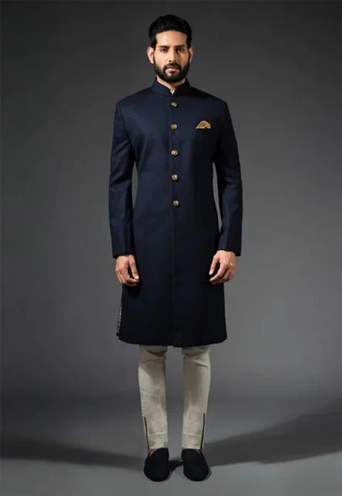 Dark Blue Sherwani 1059