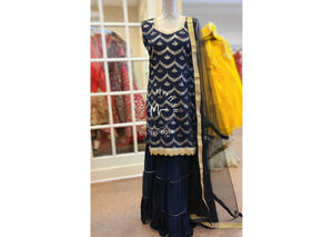 Sharara Set with net dupatta
