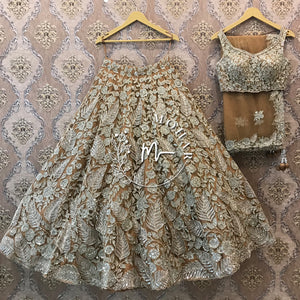 Gold Silver Reception Lehenga