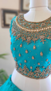 Princess styled layered lengha set