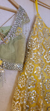 Load image into Gallery viewer, Sequenced lehenga set with frill dupatta