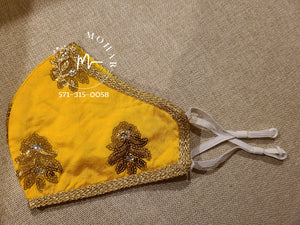 Yellow Butti Designer Mask