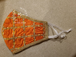 Orange Clover Designer Mask