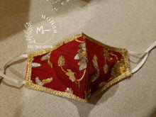 Load image into Gallery viewer, Bridal Red Designer Mask