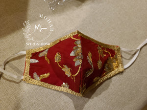 Bridal Red Designer Mask