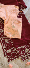 Load image into Gallery viewer, Silk cocktail party Saree and blouse set