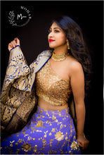 Load image into Gallery viewer, Amazing purple georgette sequence lehenga.