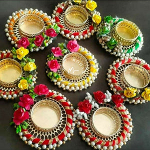 Round rose tea light holder - Diya