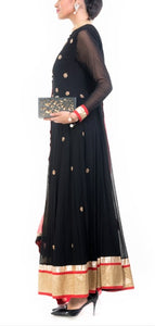 Black Anarkali Suit Set