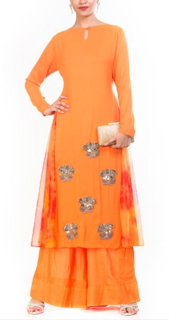 A-Line Tunic With Palazzo - Long Tunic And Pants | Mohar By Ekka Couture