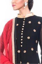 Load image into Gallery viewer, Black Anarkali Suit Set