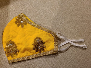 Yellow Stylist Embroidery Masks