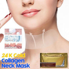 Load image into Gallery viewer, 24K Gold Collagen Neck Mask