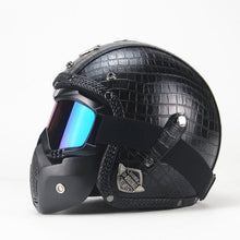 Load image into Gallery viewer, Retro Motorcycle Helmet