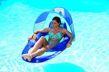Load image into Gallery viewer, Float Recliner Pool Lounger with Canopy