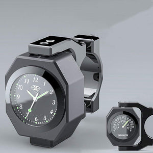 2-in-1 Motorcycle Luminous Dial Clock Thermometer