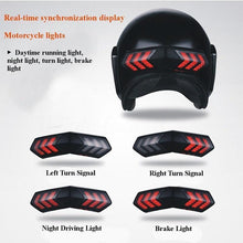 Load image into Gallery viewer, Wireless Helmet LED Brake Turn Signal Light Indicators