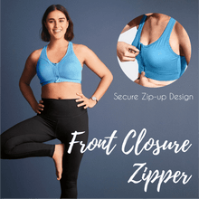 Load image into Gallery viewer, The Absolute Zip Sports Bra