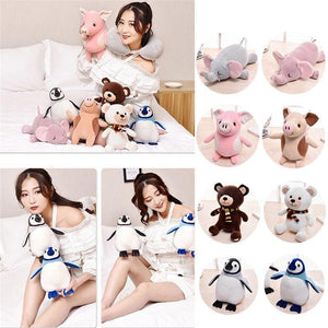 Stuffed Toys and Flip Travel Pillows
