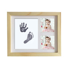 Load image into Gallery viewer, Wooden Photo Frame Baby Handprint and Footprint