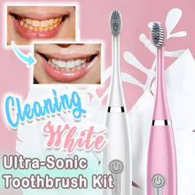 Load image into Gallery viewer, Cleaning White Ultra-Sonic Toothbrush Kit