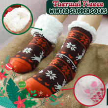 Load image into Gallery viewer, Thermal Fleece Winter Slipper Socks