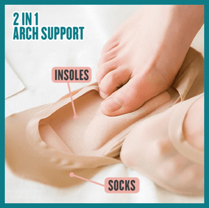 3D Arch Support Cushioned Socks (3 Pairs)