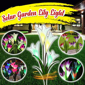 Outdoor Solar Garden Lily Lights