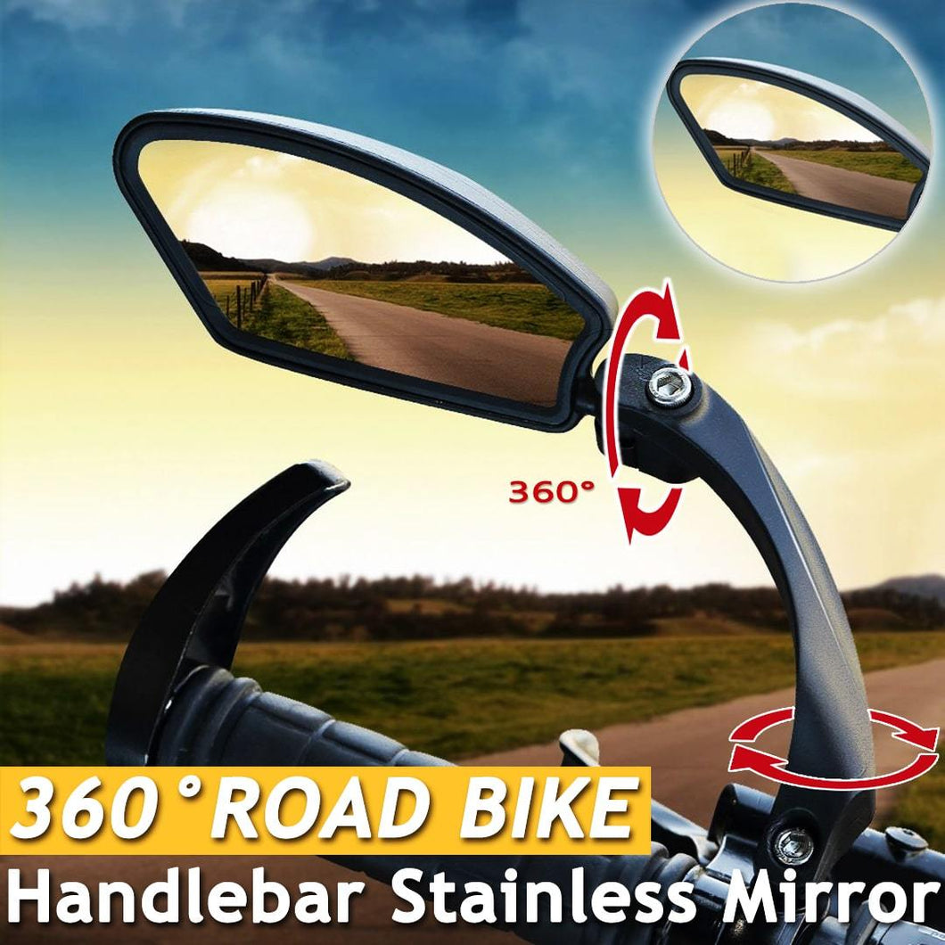 Road Bike 360 ° Handlebar Stainless Mirror