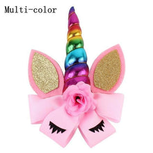Load image into Gallery viewer, Unicorn Bow Hair Clip