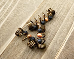 A top view of Diffuser Dread Bead Set of 3.