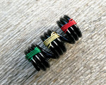 Top view of Banded Rasta Dread Bead.