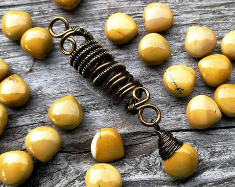 Yellow Jasper Dread Bead