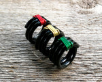 Side view of Banded Rasta Dread Bead