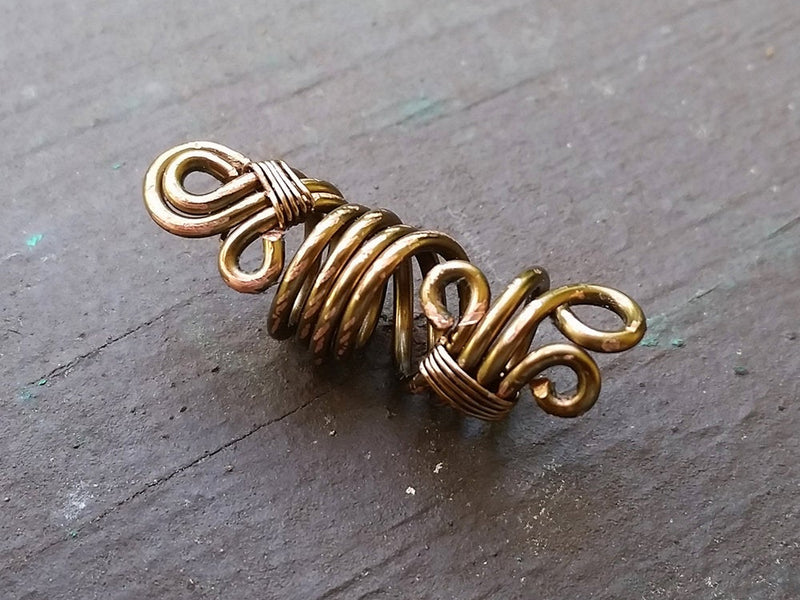 Rustic Filigree Dread Bead