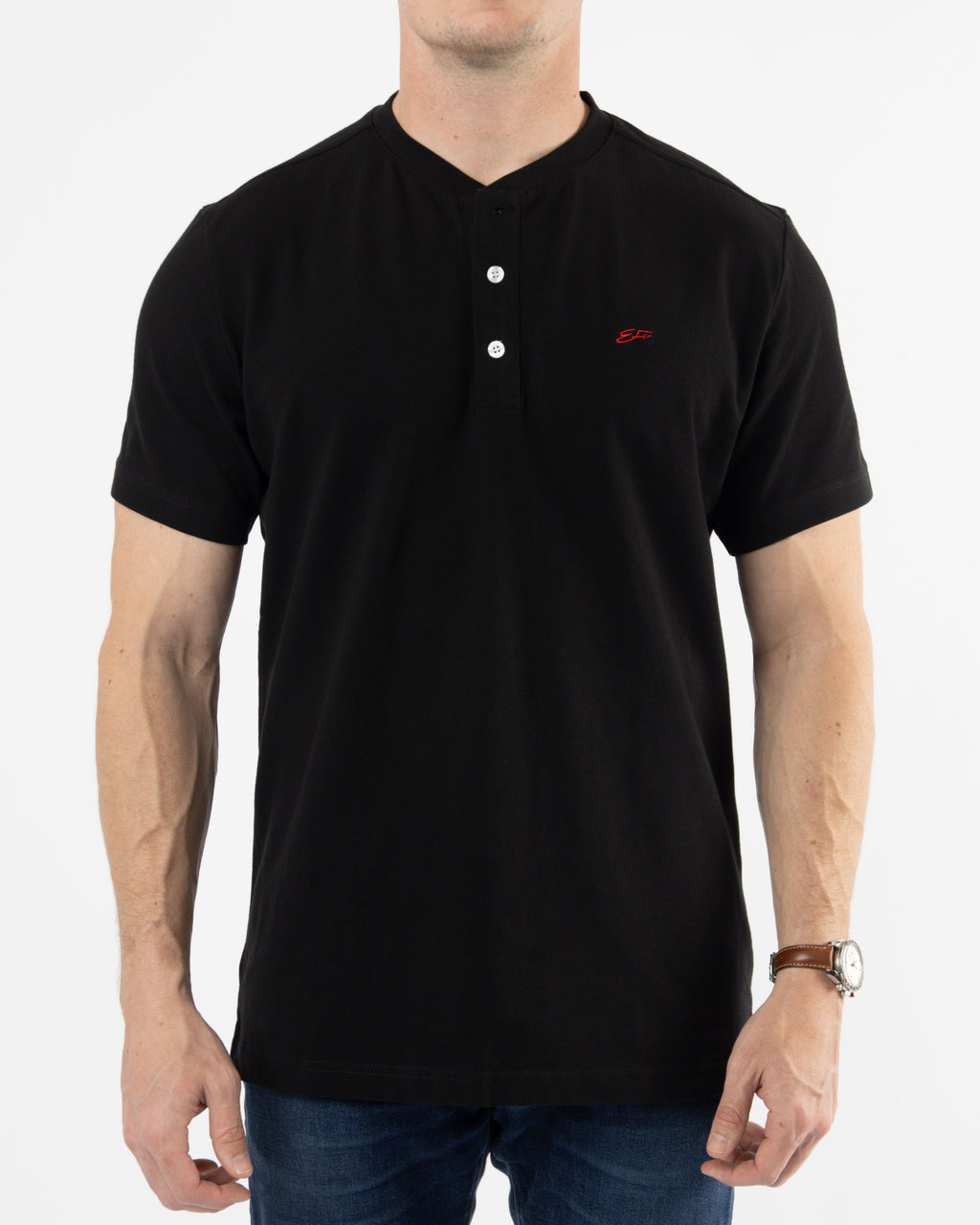 Polo Henley ~ Black