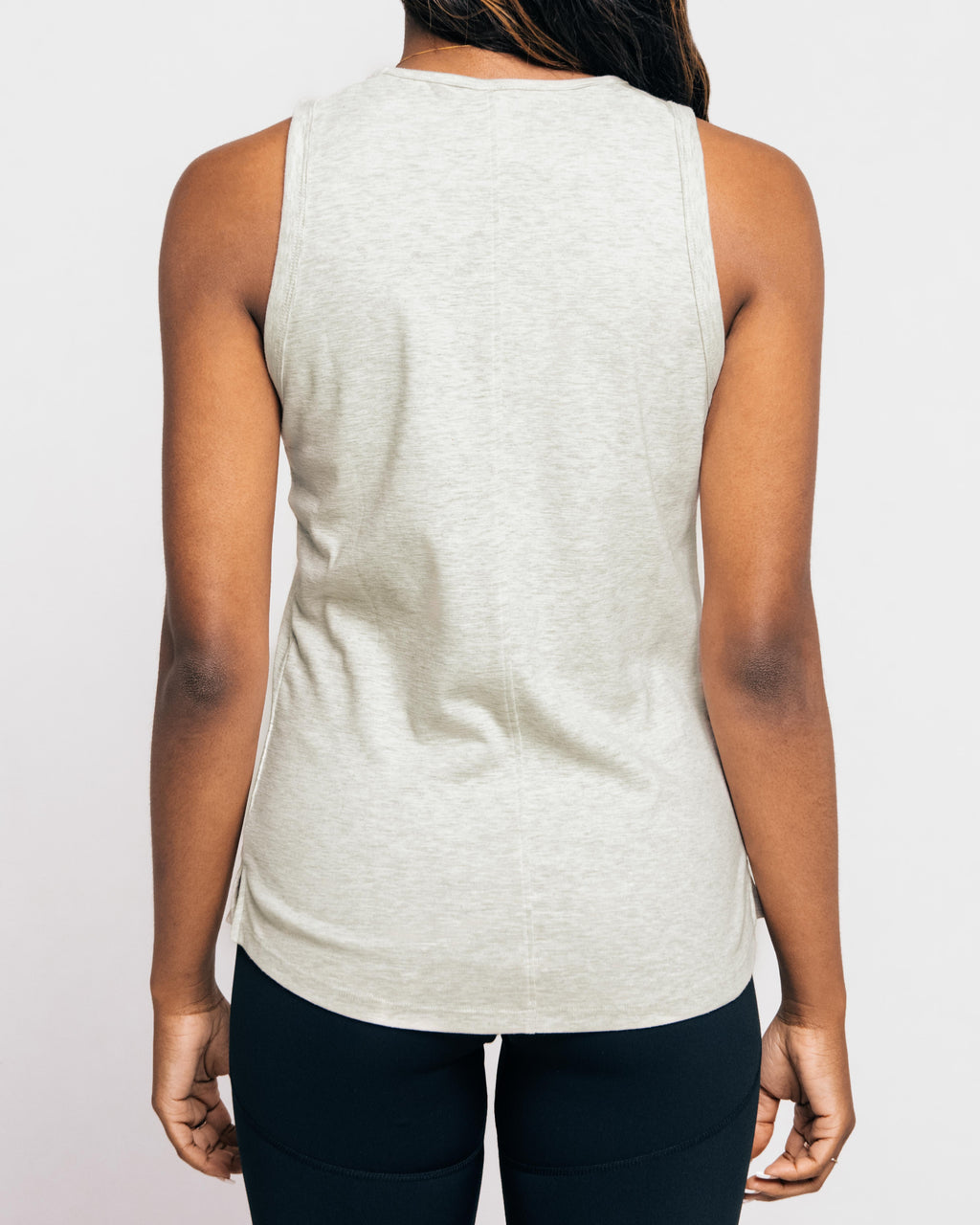 Slub Tank ~ Heather Grey