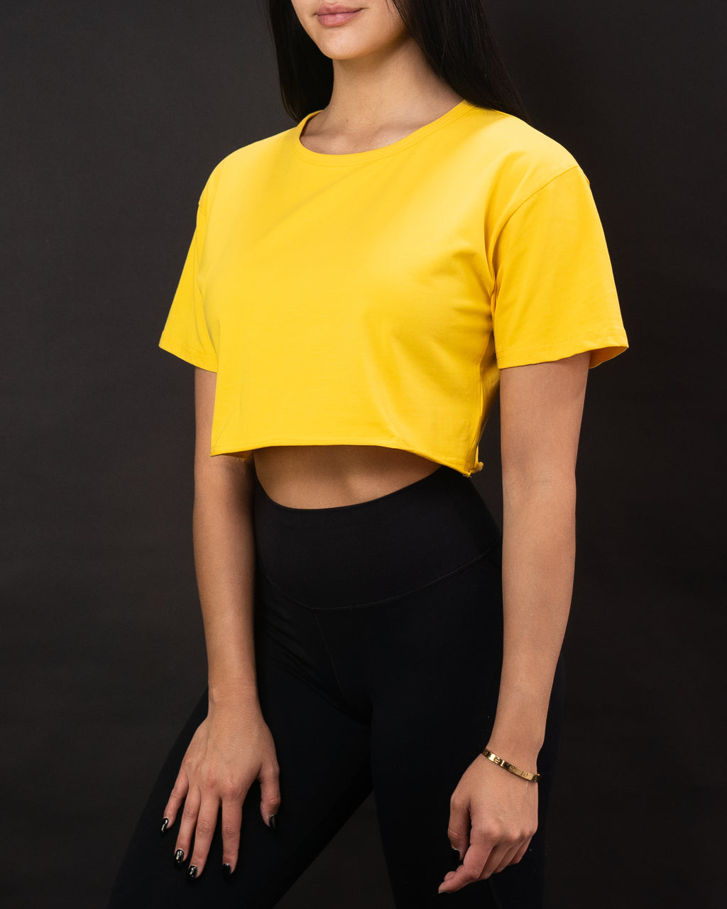 Retro Crop Tee ~ Yellow