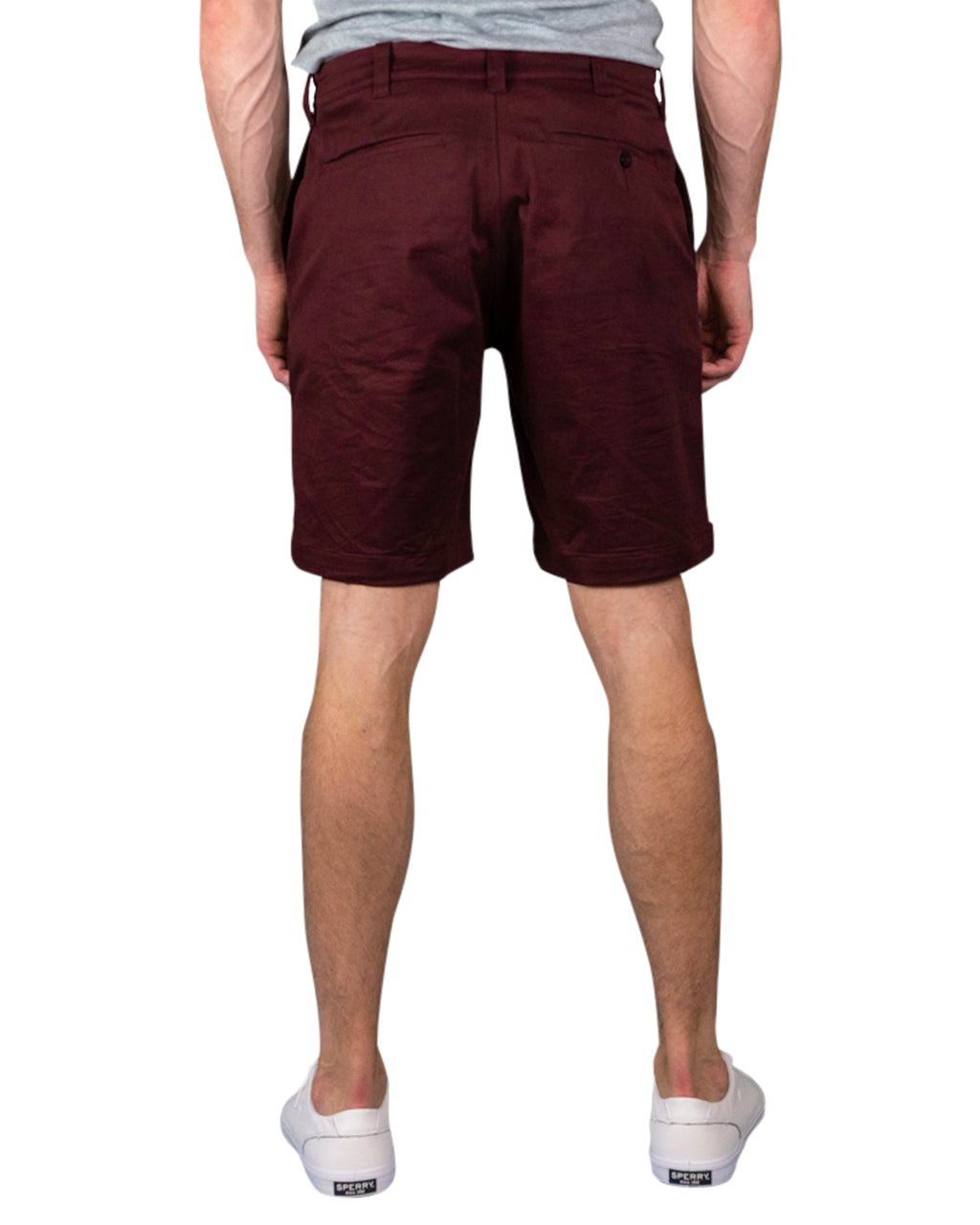 "9"" Stretch Chino Shorts ~ Burgundy"