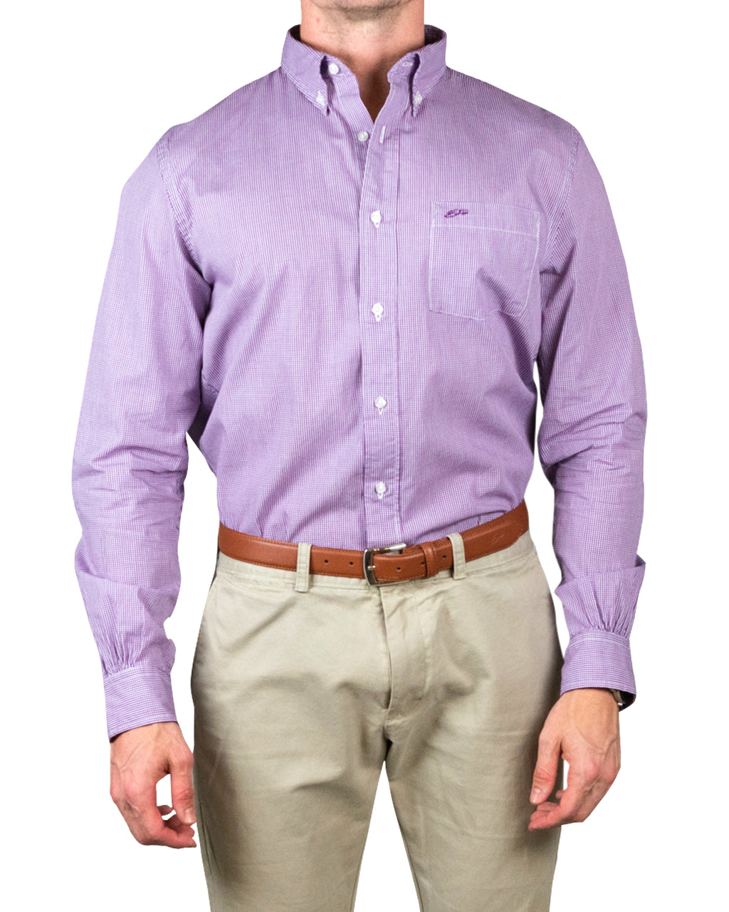 Slim Button Down ~ Purple